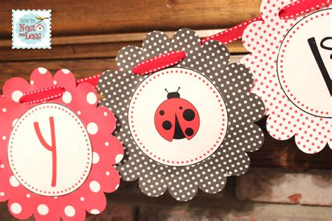printable ladybug birthday banner ladybug themed birthday party with free printables