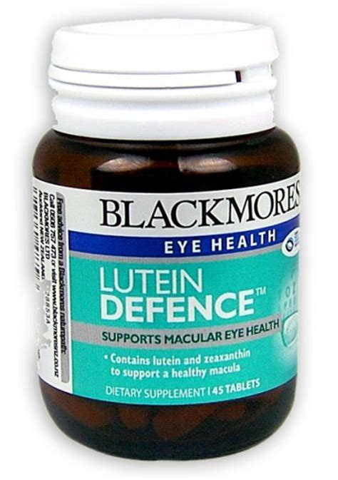 Blackmores Lutein Vision Jual Vitamin Mata buy blackmores lutein defence tablets 45 at health chemist pharmacy