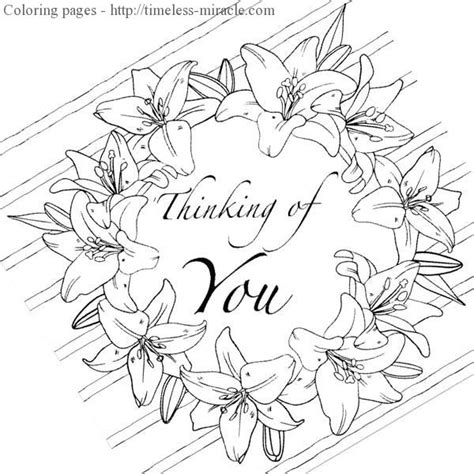 thinking of you coloring pages timeless miracle com