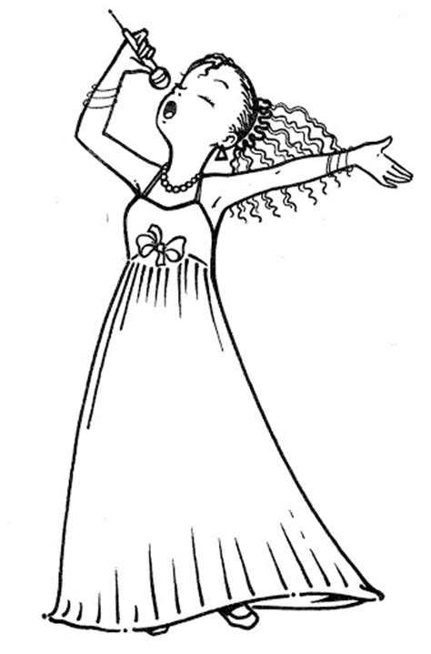 Singer Coloring Pages coloring pages of pop singers coloring pages