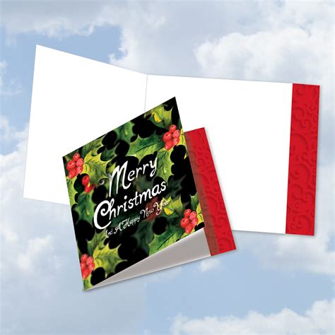 multidimensional stylish christmas blank big square top card