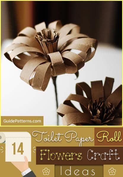 toilet paper guide 14 toilet paper roll flowers craft ideas guide patterns