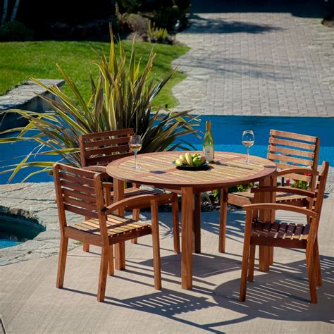 Outdoor Dining Sets Los Angeles Naples 5pc Wood Dining Set Contemporary