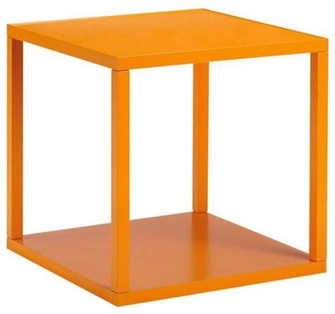 orange accent tables loft stacking cube orange modern side tables and end