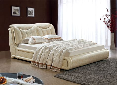 double bed bedroom sets designer modern genuine real leather soft bed double bed