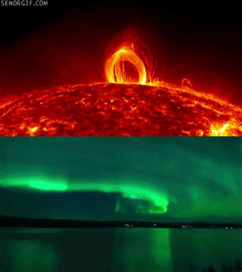 northern lights sun northern lights sun gif by cheezburger find share on giphy