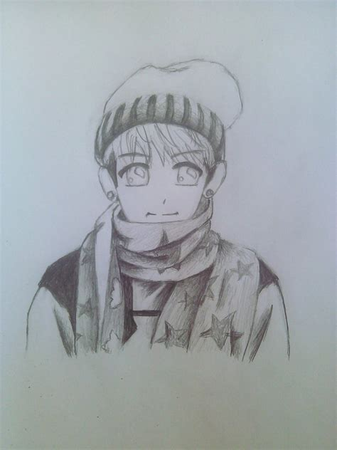 V Anime Drawing by V Taehyung Sketch By Ona Chi On Deviantart