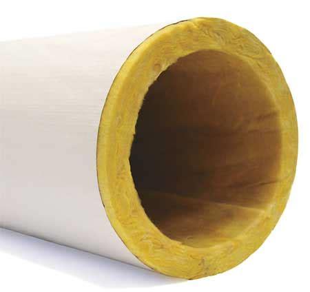 "owens corning 10"" x 3 ft. fiberglass pipe insulation 1 1/2"