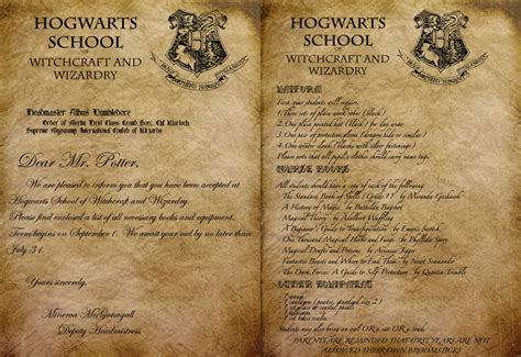 Harry Potter Acceptance Letter Hogwarts Acceptance Letter By Envy 555 On Deviantart