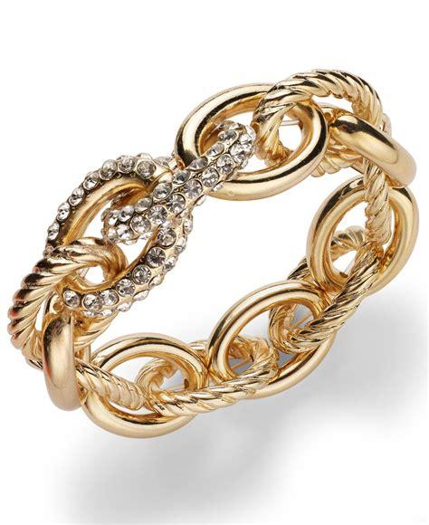 inc international concepts gold tone pav 233 link stretch