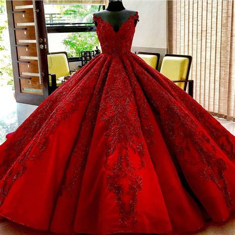 Dress Gv 10 Fanta Merah burgundy wedding dresses gowns lace embroidery alinanova