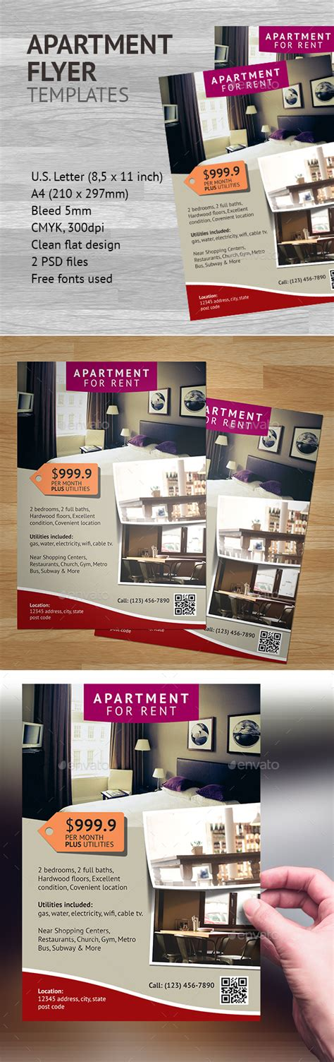 Apartment Flyer Template 2 By Heriwibowo Graphicriver Apartment Flyer Template