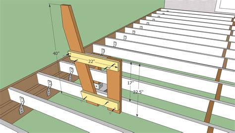 Wood Deck Bench Plans