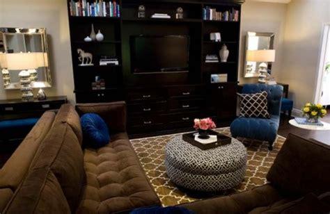turquoise la royal blue chocolate brown chic living pottery barn moorish tile rug contemporary living room