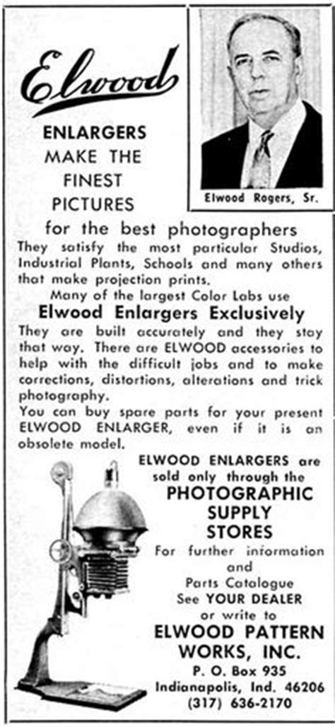 elwood pattern works history salzman made quality large format enlargers up to 8x10