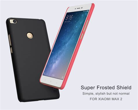 Hardcase Nillkin Xiaomi Mi Max 2 nillkin frosted shield matte cover for xiaomi mi max 2 free screen protector
