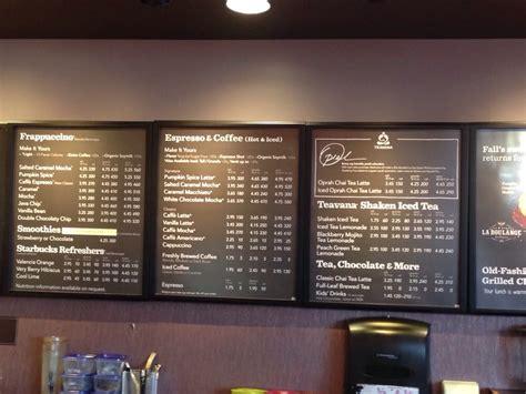 Menu for Starbucks inside Target. - Yelp Locksmiths In Nh