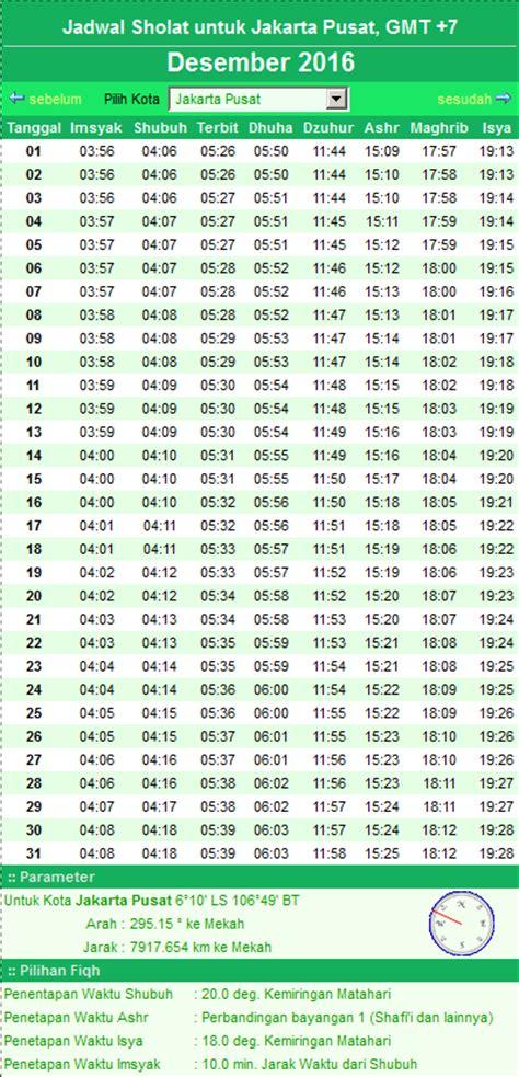 tutorial sholat isya jadwal sholat jakarta desember hari ini download lengkap