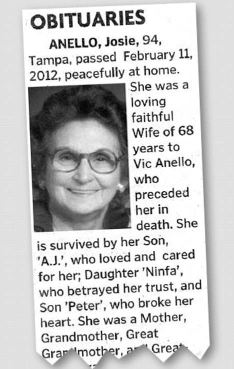 josie anello obituary of 94 year goes viral