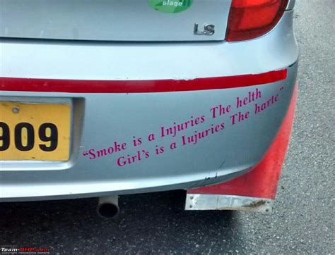 Bike Sticker Quotes In Tamil by Pics Of Weird Wacky Funny Stickers Badges On Cars