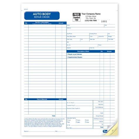 auto body invoice template hardhost info