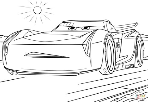 coloring pages cars 3 jackson storm from cars 3 coloring page free printable