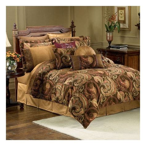 comforter sets chocolate brown burgess brown paisley