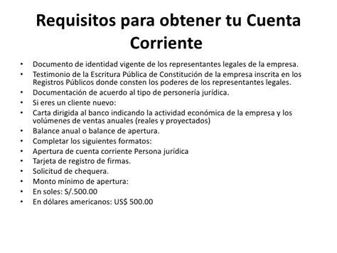 requisitos para abrir una cuenta corriente en banco de requisitos para apertura de una cuenta en el banco