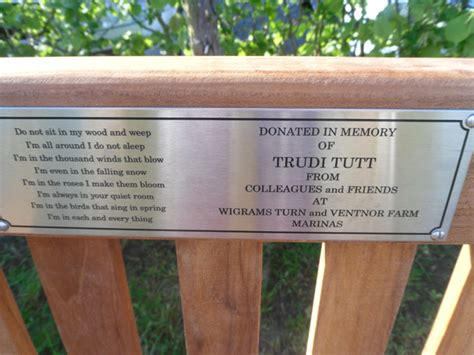 bench memorial plaques memorial bench plaque 28 images memorial bench plaque quotes quotesgram memorial