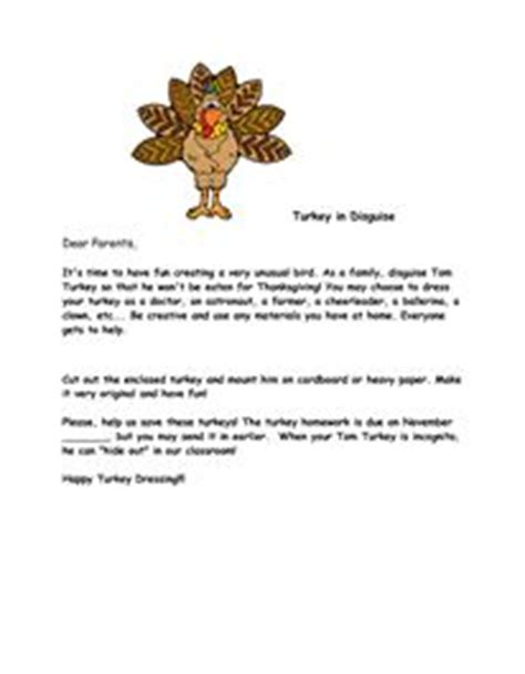 Parent Letter For Thanksgiving Feast Turkey In Disguise Parents Thanksgiving And Turkey In Disguise