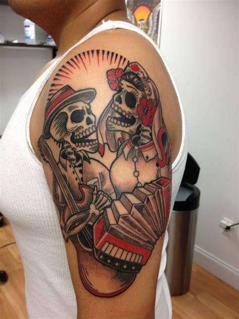 dia de los muertos couple tattoos pin by trevor ledford on cool tattoos