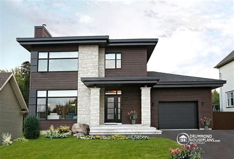 New Modern House Plans | contemporary modern house plan no 3713 v1 by drummond