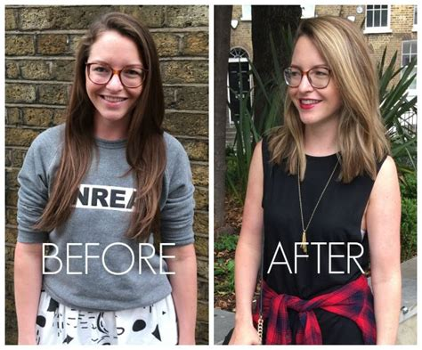 haircut before or after giving birth lob haircut before and after 17 best images about hair