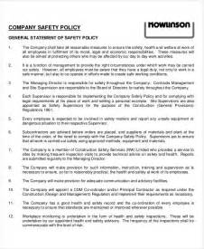 Company Policy Template Free by Company Policy Template 9 Free Pdf Documents