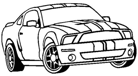 mustang car coloring pages coloring home