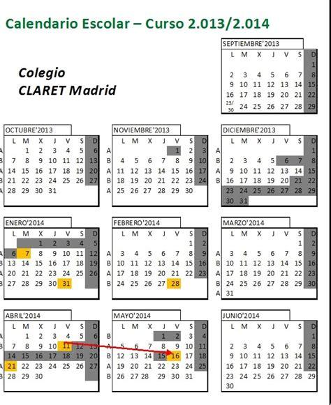 Calendario Escolar Madrid 2013 Calendario Escolar Madrid 2014 Imagui