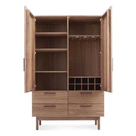 Modern Bar Cabinet Contemporary Bar Cabinet Walnut Ash Shale Dot Care Partnerships