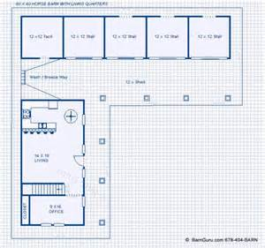 Horse Barn With Apartment Floor Plans Horse Barn Plans With Living Quarters Above Chellsia