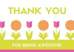 being awesome thank you card templates by canva