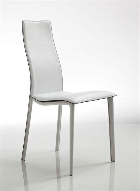 rivestimenti sedie elegante sedia rivestimento in cuoio bianco con seduta