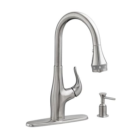kitchen faucets with soap dispenser american standard xavier selectflow single handle pull