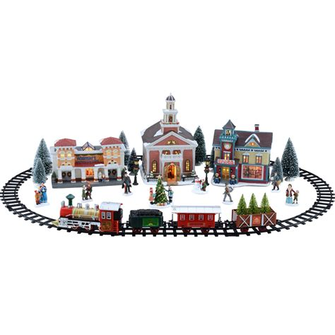 christmas village sets holiday time 20 piece village set christmas village walmart com