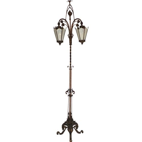 Lantern Floor L Iron Two Lantern Nouveau Floor L C1900 From Blacktulip On Ruby