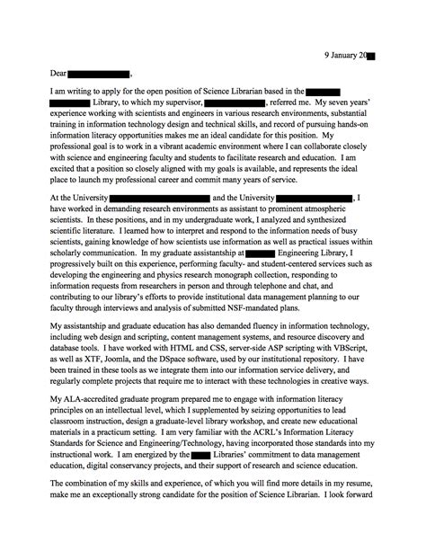 Motivation Letter And Open Questions cover letter faculty position science cover letter