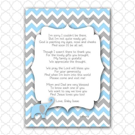 Thank You For Baby Shower Gift Poem by Best 13 Random Ideas On Baby Shower Thank You