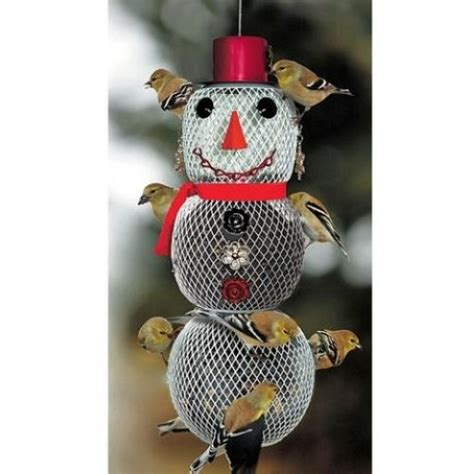 no no mrs snowman bird feeder decorative winter christmas