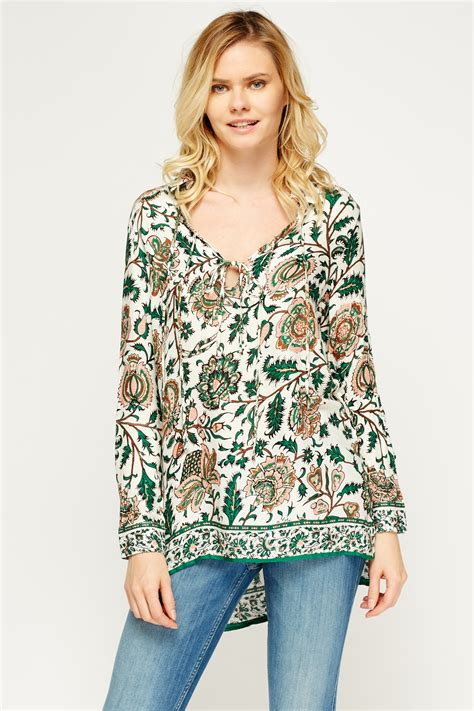 Flowers Casual Top 27161 floral printed casual top 3 colours just 163 5