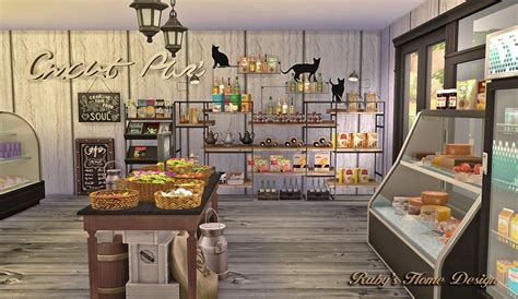 Ice Cream Shop Floor Plan Sims4 Deli Amp Grocery Store 小吃雜貨鋪 Ruby S Home Design