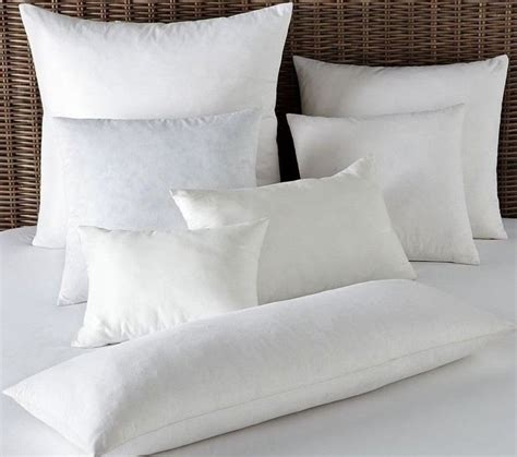 What Size Is A European Pillow by Pillowsusa Square Feather Pillow Inserts Forms