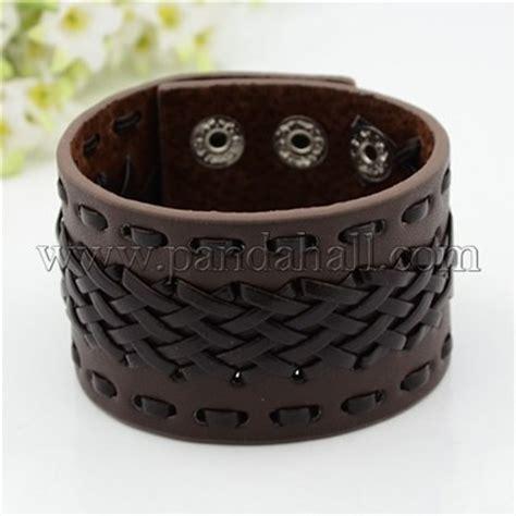 pulseras personalizadas cuero pulseras de cuero anchas personalizadas con fornituras de